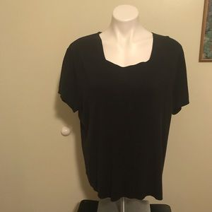 Dress barn 22/24 black top great for work